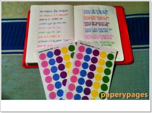 The pink 365 Diary from Romane comes with stickers