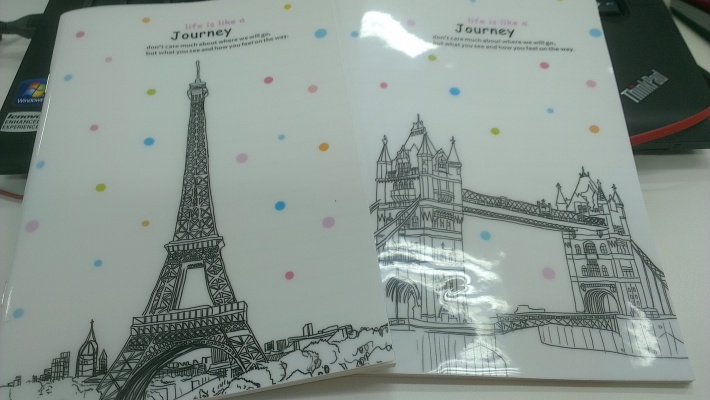 Plastic covers of European tourist spots (A5 size or so)