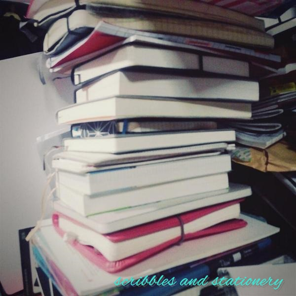 this is only part of 1 tower of notebooks