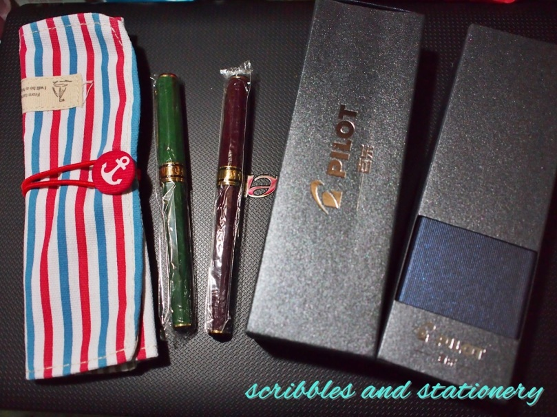 A mini October haul from taobao: pen roll, 2 Lucky pens, and 2 Pilots!