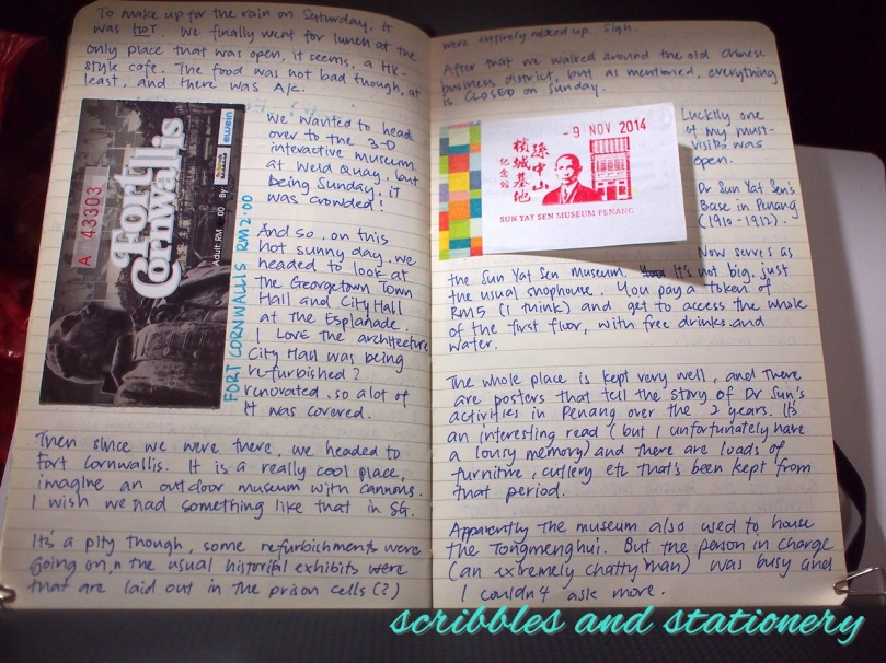Travel Journal Georgetown Penang Malaysia November 2014