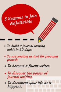Why  Join #NaJoWriMo National Journal Writing Month?