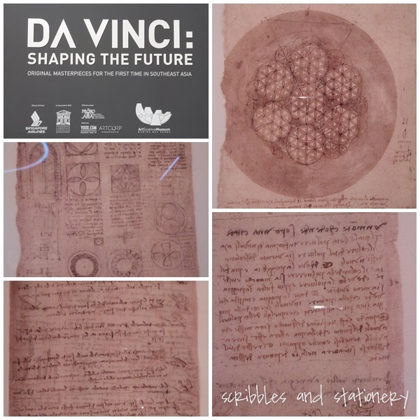 Da Vinci Shaping the Future Exhibition - viewing Da Vinci's journals