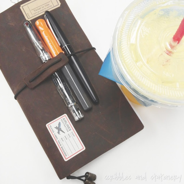 travelers notebook with juice