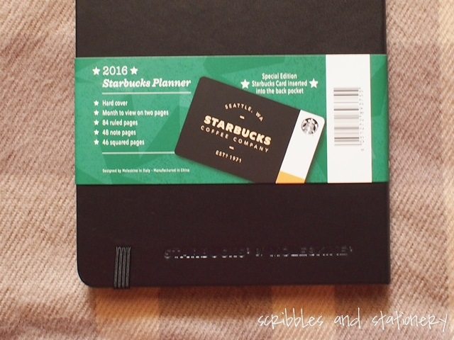 Starbucks x Moleskine 2016 Starbucks Planner (Singapore Editiion)