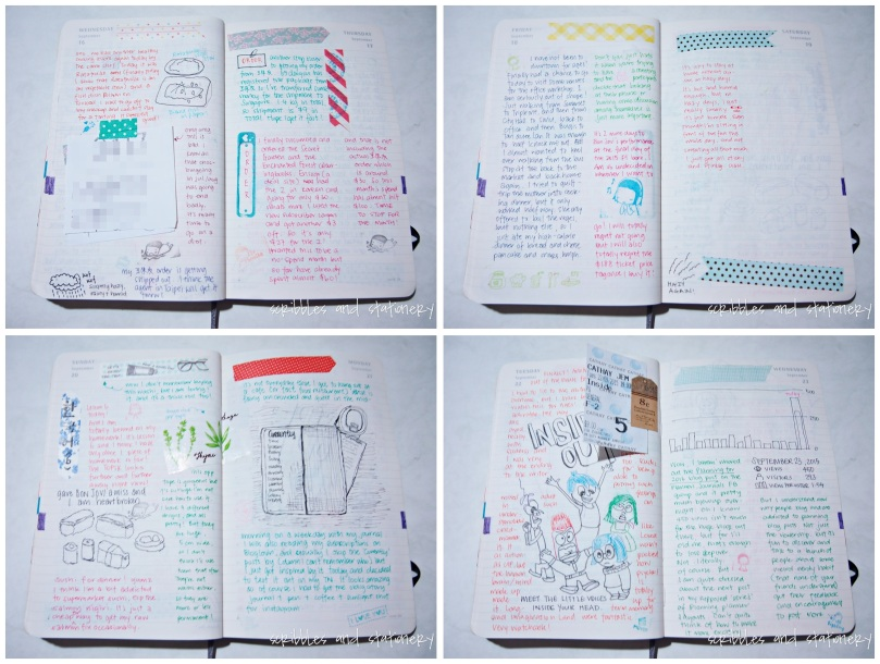 My Moleskine Daily - September Flip-Through by Scribbles and Stationery