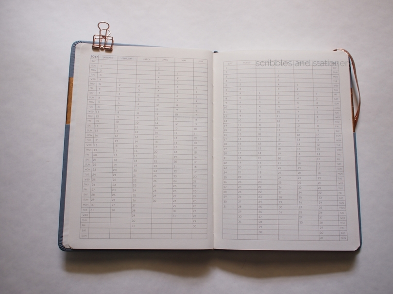 Typo Weekly 2018 Buffalo Planner Vertical calendar