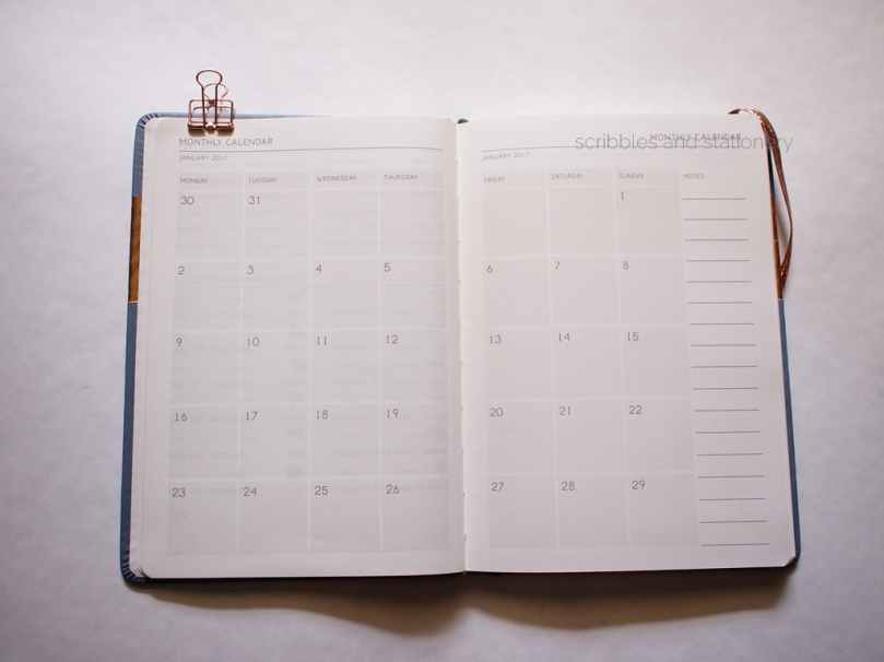 Typo Weekly 2017 Buffalo Planner Monthly Calendar
