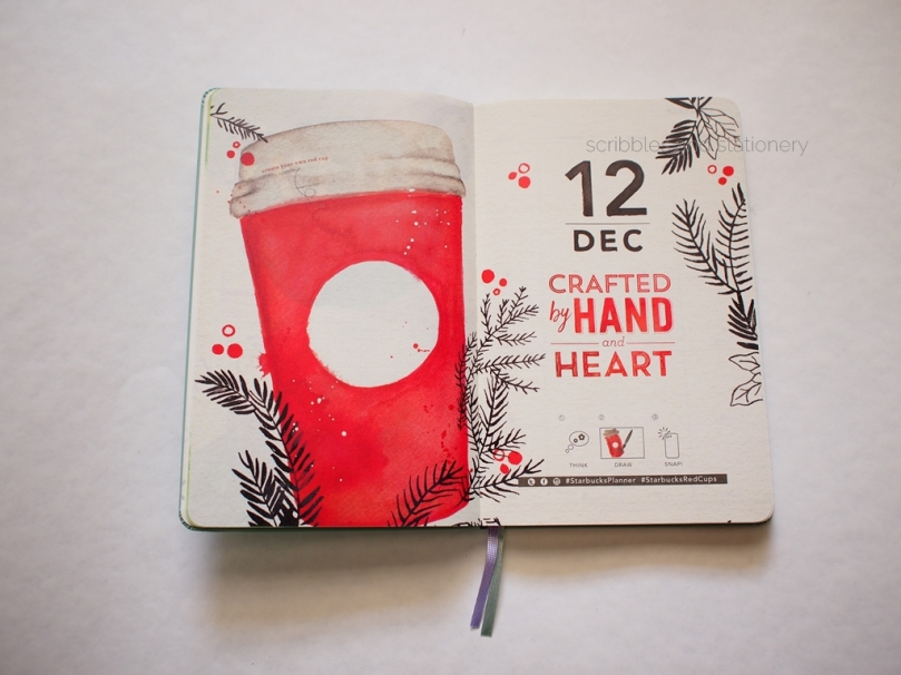 Starbucks x Moleskine 2017 Monthly Planner December Pages