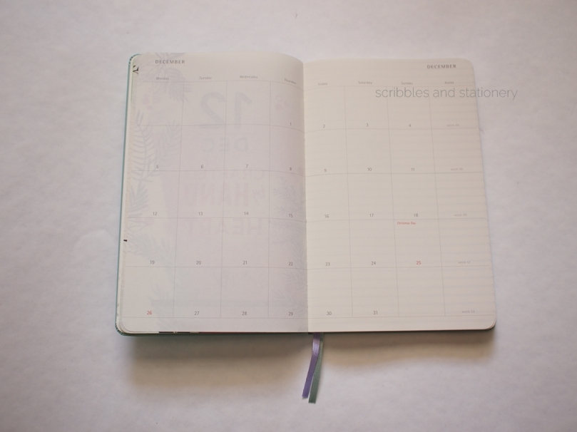 Starbucks x Moleskine 2017 Planner (Singapore) Monthly Spread